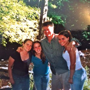 Ray with girls, 1994