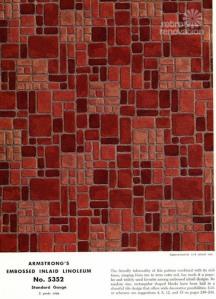 brick linoleum