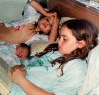 Rachael with Sisters - baby