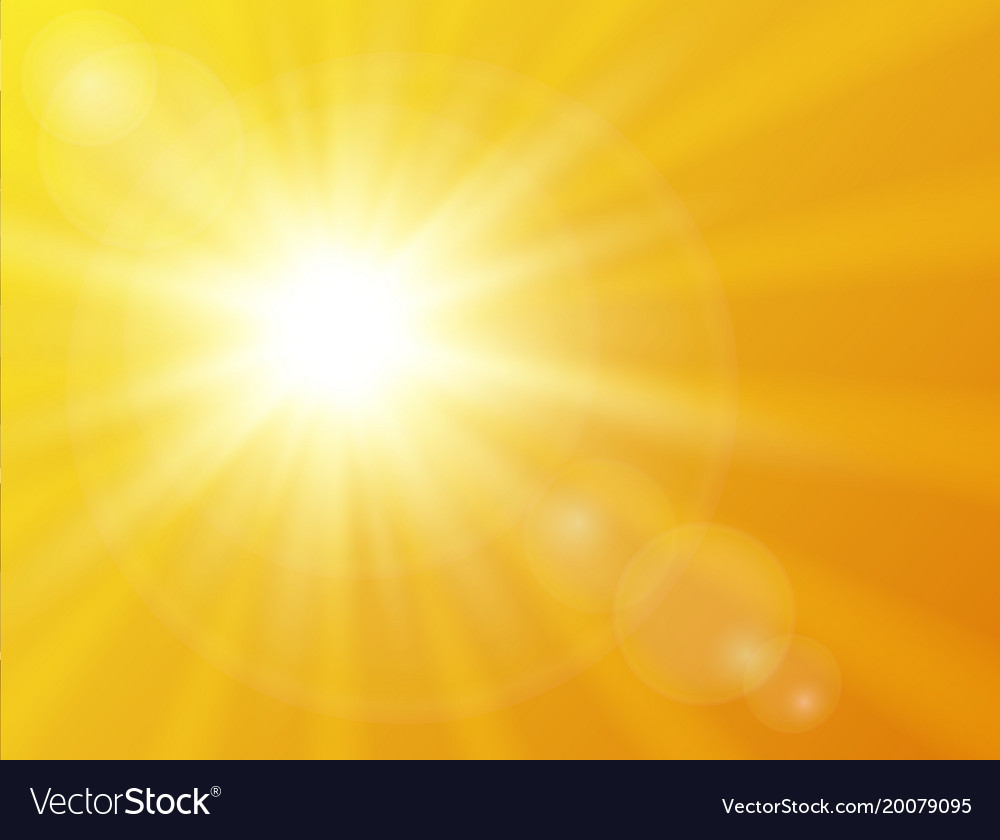 Sunny background. Vector sunshine background. Summer design