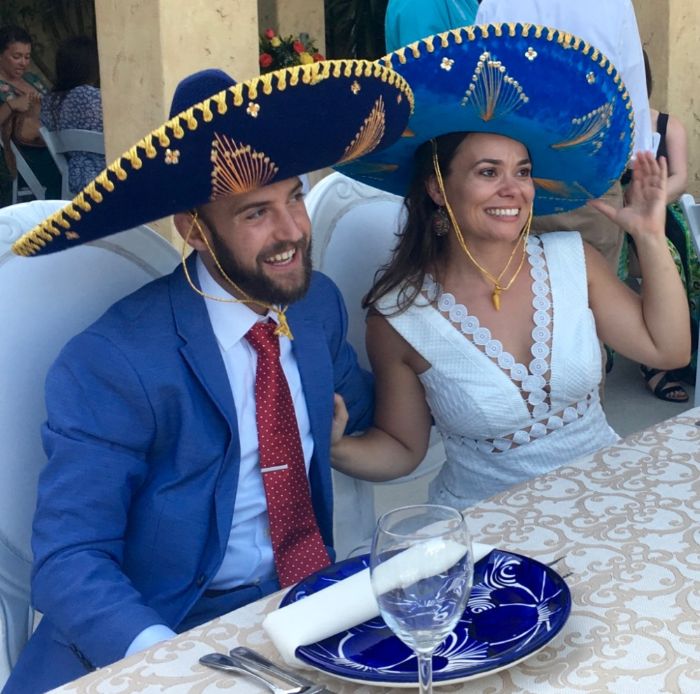 LIz and Ron in Sombreros